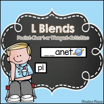 L Blends Pocket Chart or Magnetic Letter Activities