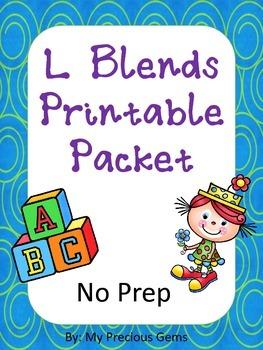 L Blends Printable Pack