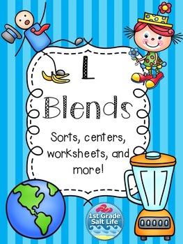 L Blends Activities / L Blends Word Work