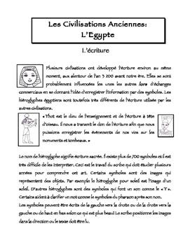 FSL L'Egypte Ancienne - L'Ecriture