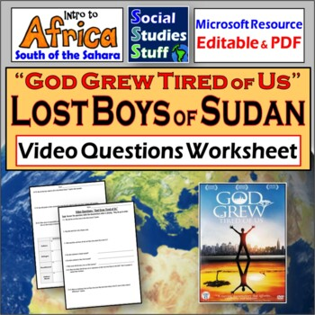 """God Grew Tired Of US"" (The Lost Boys of Sudan, Africa) Vi"