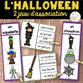 L'Halloween - Ensemble 2 jeux d'association - French Hallo