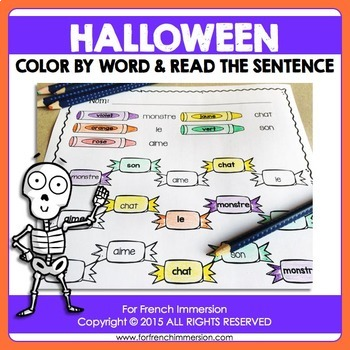 L'Halloween - FRENCH Halloween Color & Read