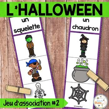 L'Halloween - Jeu d'association #2 - French Halloween Clip Cards