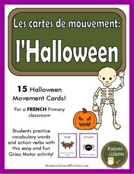 L'Halloween: les cartes de mouvement (French Halloween mov