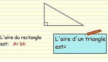 L'aire d'un triangle (area of a triangle)