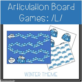 /L/ and /L/-Blends Articulation Board Games - Winter Theme