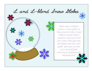 L and L-blend snow globes
