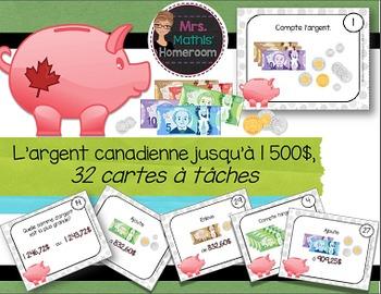 L'argent canadienne: cartes à tâches (Canadian Money Task