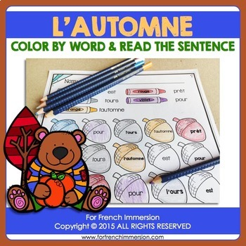 L'automne - FRENCH Fall Color & Read