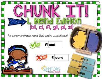 L-blend Chunk It phonics game