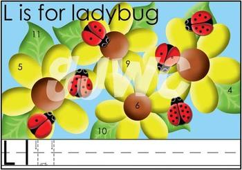 L is for Ladybug File Folder Game