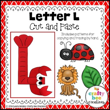 Letter L (Lobster) Cut and Paste