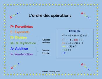 Order of Operations/L'ordre des opérations POSTER