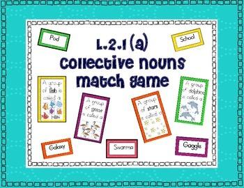 L.2.1(a) Collective Nouns Match Game