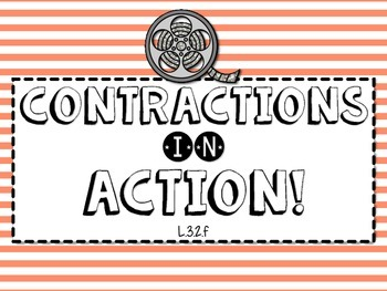 L.3.2f - Contractions in Action! Card Game