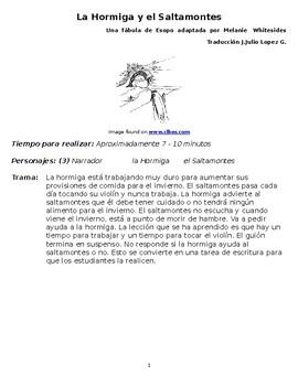 LA HORMIGA Y EL SALTAMONTES - Spanish Small Group Reader's