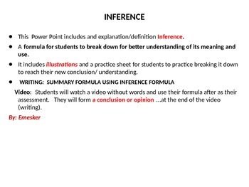 L.A. INFERENCE, CAUSE AND EFFECT, SUMMARY