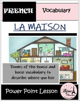 LA MAISON: French Lesson on Rooms of the House and Related
