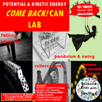 Potential & Kinetic Energy Come Back Canisters LAB