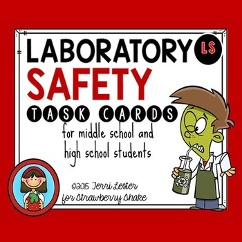 LAB SAFETY Task Cards for Middle and High School Biology L