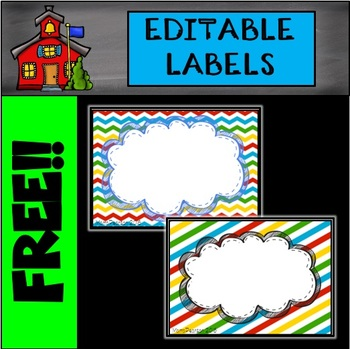 LABELS: Editable Labels Back to School Colors