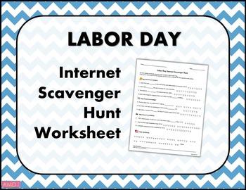 LABOR DAY Internet Scavenger Hunt