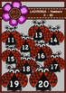 LADYBIRDS - NUMBERS 0-20 Digital Clipart (color and black&white)