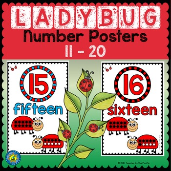 LADYBUG Math Number Posters 11 - 20