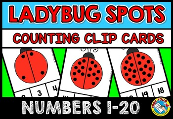 LADYBUGS COUNTING CENTER: KINDERGARTEN COUNTING CLIP CARDS