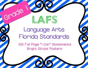 "LAFS ""I Can"" statements Stripes {NEW Language Arts Florida"