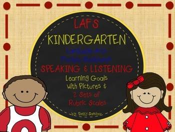 LAFS FLA KINDERGARTEN SPEAKING & LISTENING Goals, 2 SETS o