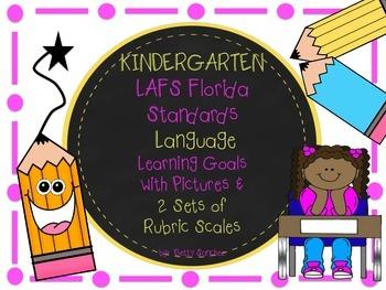 LAFS FLA KINDERGARTEN LANGUAGE Learning Goals 2 SETS of RU