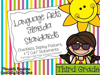 LAFS - Language Arts Florida Standards {3rd Grade - Rainbo