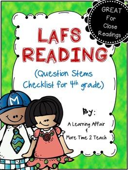 LAFS Question Stems Checklist {4th Grade}