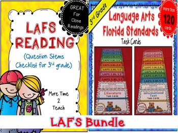 LAFS Question Stems Checklist & Task Cards {3rd Grade Bundle}