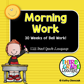 Third Grade Common Core Language Standards -- Morning Work