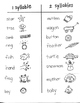 LANGUAGE TARGET:  WORD / SYLLABLE COUNT - SORT for YOUNG ARTISTS
