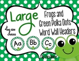 Frog and Green Polka Dot Wall Headers {Two Size Choices}