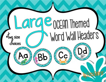 Ocean Themed Word Wall Headers {Two Size Choices}