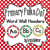 Primary Polka Dot Wall Headers {Two Size Choices}