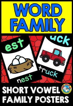 LARGE WORD FAMILY POSTERS: BACK TO SCHOOL POSTERS: CLASS DECOR