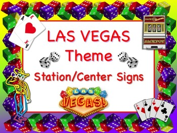 LAS VEGAS Themed Station/Center Signs - Great Classroom Ma