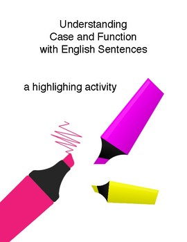 LATIN Case and Function Identification in English Highlighting