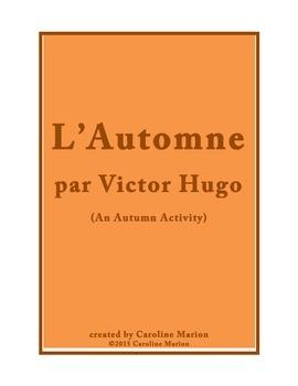 L'Automne par Victor Hugo (An Autumn Activity)