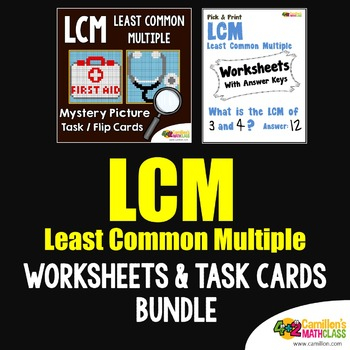 Least Common Multiple (LCM) Worksheets and Task Cards