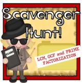 LCM and GCF Scavenger Hunt