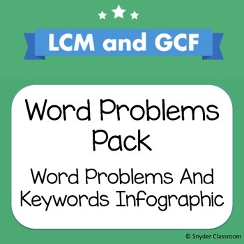 LCM GCF Word Problem Worksheets and Infographic