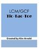 LCM/GCF Tic-Tac-Toe Game (Least Common Multiple & Greatest