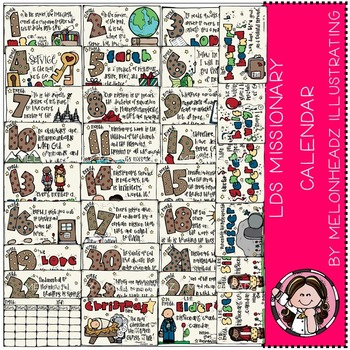 LDS Missionary Calendar by Melonheadz COMBO PACK